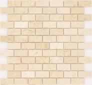 Мозаика CARAMELLE Pietrine Botticino полированная 29,8x29,8x0,4 см (чип 23x48x4 мм)