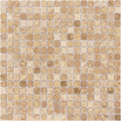 Мозаика CARAMELLE Pietrine Emperador Light полированная 30,5x30,5х0,4 см (чип 15x15x4 мм)