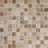 Мозаика CARAMELLE Pietrine Emperador Light полированная 29,8x29,8х0,7 см (чип 23х23х7 мм)