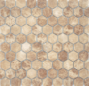Мозаика LeeDo Pietrine Hexagonal Emperador Light матовая 28,5x30,5х0,6 см (чип 18х30х6 мм)