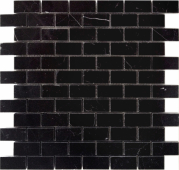 Мозаика LeeDo Pietrine Nero Oriente полированная 29,8x29,8x0,4 см (чип 23x48x4 мм)