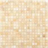 Мозаика CARAMELLE Pietrine Onice Beige полированная 30,5x30,5x0,7 см (чип 15x15x7 мм)