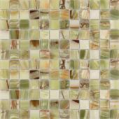 Мозаика CARAMELLE Pietrine Onice Jade Verde полированная 29,8x29,8х0,7 см (чип 23х23х7 мм)