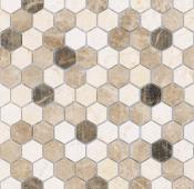 Мозаика LeeDo Pietrine Hexagonal Pietra Mix 1 матовая 28,5x30,5х0,6 см (чип 18х30х6 мм)