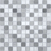 Pietra Mix 3 матовая 29,8x29,8х0,4 см (чип 23х23х4 мм)