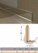 Плинтус L-образный зеркальный (нерж. сталь)