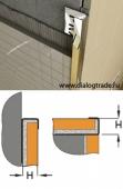 Наружный / Торцевой профиль для плитки, нержавеющая сталь