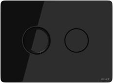 Кнопка ACCENTO CIRCLE, пневматическая, стекло, черная глянцевая