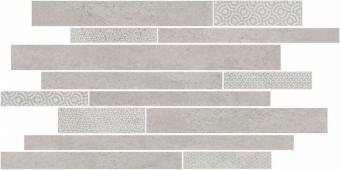 SBM009/SG4583 Ламелла серый светлый мозаичный 50.2*25 декор