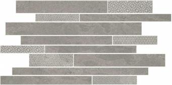 SBM010/SG4584 Ламелла серый мозаичный 50.2*25 декор