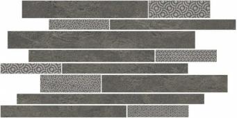 SBM011/SG4585 Ламелла серый темный мозаичный 50.2*25 декор