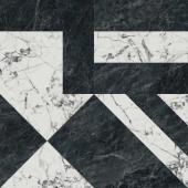SG013302R Бьянко Неро белый черный лаппатированный 119.5*119.5 керамический гранит