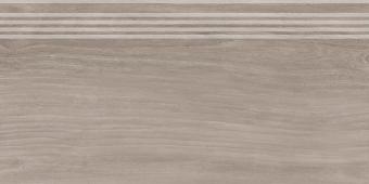 Ступень Слим Вуд коричневый обрезной 30*60
