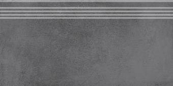Ступень Мирабо серый темный обрезной 30*60