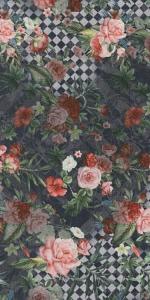 Ковер Цветы декорированный обрезной 119,5*238,5