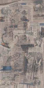 Ковер Коллаж декорированный обрезной 119,5*238,5