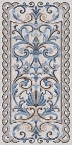 Ковер Мозаика синий декорированный лаппатированный 119,5*238,5