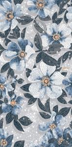 Ковер Розелла синий декорированный лаппатированный 119,5*238,5