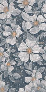 Ковер Розелла серый декорированный лаппатированный 119,5*238,5