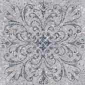 Терраццо серый декорированный обрезной 60*60