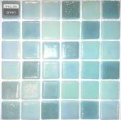 Мозаика Shell Mix Green 553/554 (на сетке), чип 2,5*2,5 см