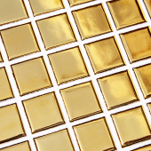 Золотая мозаика 25x25 мм Starmosaic