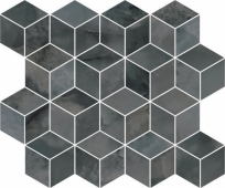T017/14024 Джардини серый темный мозаичный 45*37.5 декор