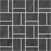T021/DD2039 Про Слейт антрацит мозаичный 30*30 декор