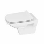 Унитаз подвесной: CARINA NEW CLEAN ON с кр.дюропл. slim lift., белый