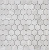 Мозаика LeeDo Pietrine Hexagonal Travertino Silver матовая 28,5x30,5х0,6 см (чип 18х30х6 мм)