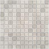 Мозаика CARAMELLE Pietrine Travertino Silver матовая 29,8x29,8x0,4 см (чип 23x23x4 мм)