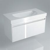 Тумба BUONGIORNO подвесная для раковины 100 см с 1 выдвижным ящиком + 1 внутр. ящик, Европейский белый