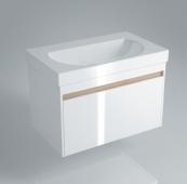 Тумба BUONGIORNO подвесная для раковины 80 см с 1 выдвижным ящиком, белая