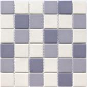 Мозаика LeeDo Aquario 30,5x30,5x0,6 см (чип 48x48x6 мм) из керамогранита неглазурованная с прокрасом в массе