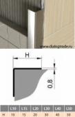 Защитный угол для плитки наружный, нержавейка зеркальная и шлифованная