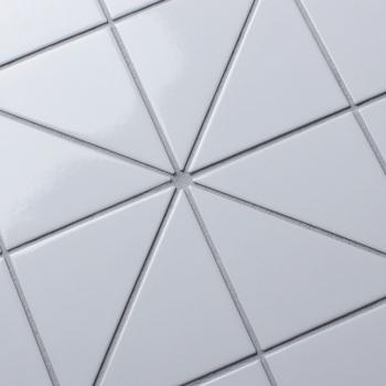 Мозаика Triangolo White Glossy 3