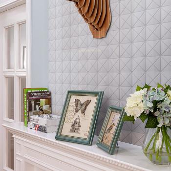 Мозаика Triangolo White Glossy 2