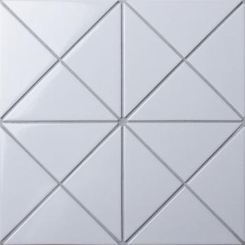 Мозаика Triangolo White Glossy