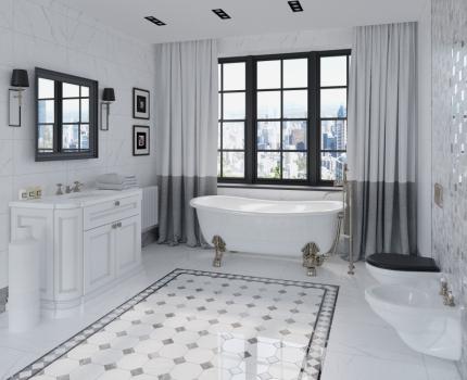 Гранит керамический BLACK & WHITE White SUGAR.RETT. 60х60 см